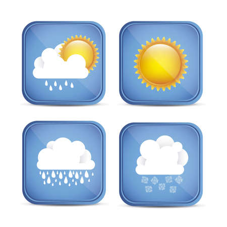 Cloud seasons. Spring, summer, autumn and winter. vector illustration Stock Vector - 16184641