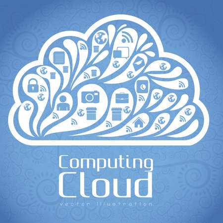 Cloud Icon. Cloud Internet, telecommunications and networks, vector illustration Stock Vector - 16184679