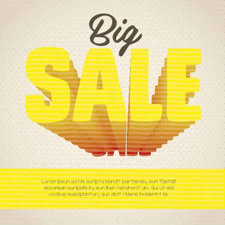 perpective: illustration of sale label, with colorful 3d letters, vector illustration Illustration