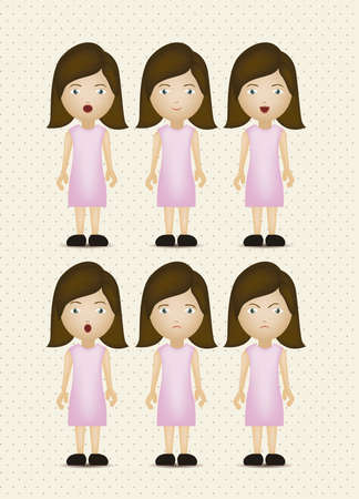 Illustration of expressions icons, with different gestures, vector illustration Stock Vector - 16184636
