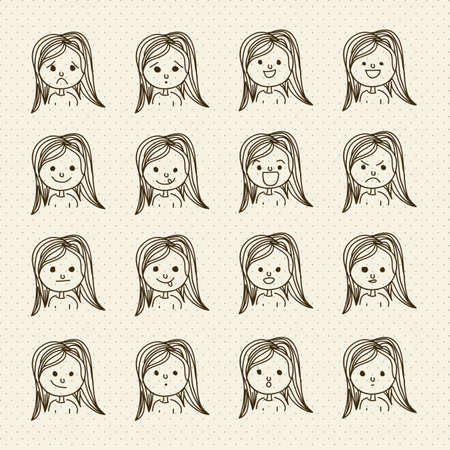 Illustration of expressions icons, with different gestures, vector illustration Stock Vector - 16184639