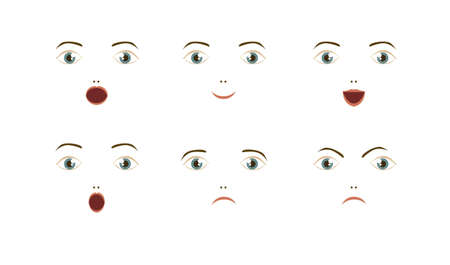 Illustration of expressions icons, with different gestures, vector illustration Stock Vector - 16183905
