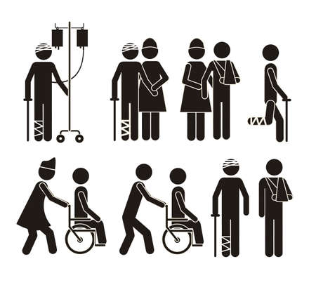 Illustration of Life icons, hospital signage, vector illustration Vector