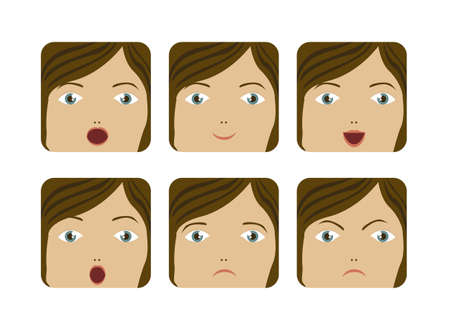 Illustration of expressions icons, with different gestures, vector illustration Stock Vector - 16183919
