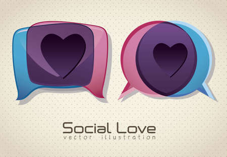 Illustration of balloons, love social networking, vector illustration Stock Vector - 16184381
