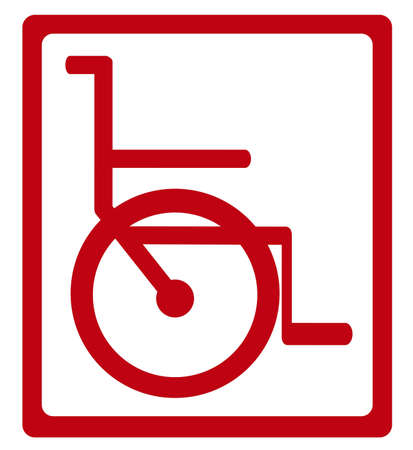 Illustration of Life icons, illustrations wheelchair, vector illustration Vector