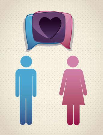 Illustration of balloons, love social networking, vector illustration Stock Vector - 16184262