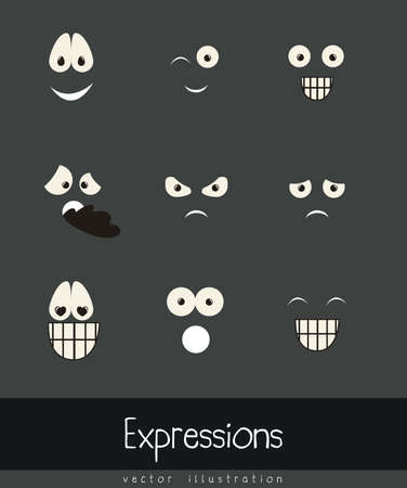 Illustration of expressions icons, with different gestures, vector illustration Stock Vector - 16183869