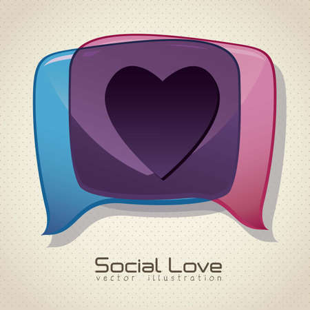 Illustration of balloons, love social networking, vector illustration Stock Vector - 16184581