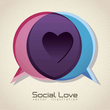 Illustration of balloons, love social networking, vector illustration Vector