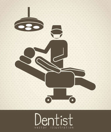 Illustration of Life icons, dentist and chair, vector illustration Vector