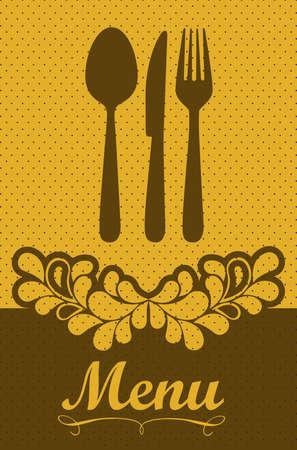 Illustration of Menu retro. Vintage restaurant menu, vector illustration Stock Vector - 16184602