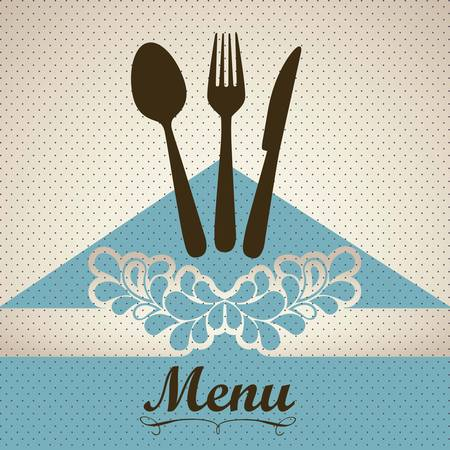 dining: Illustration of Menu retro. Vintage restaurant menu, vector illustration Illustration