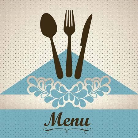 Illustration of Menu retro. Vintage restaurant menu, vector illustration