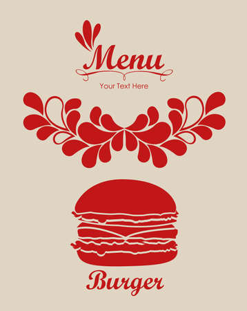 Illustration of Menu retro. Vintage restaurant menu, vector illustration Vector