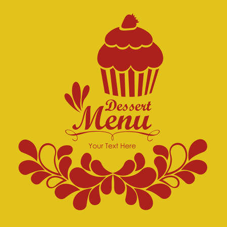 Illustration of Menu retro. Vintage dessert menu, vector illustration Vector