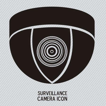 caution cctv: Illustration of security camera, security cameras icons, vector illustration Illustration