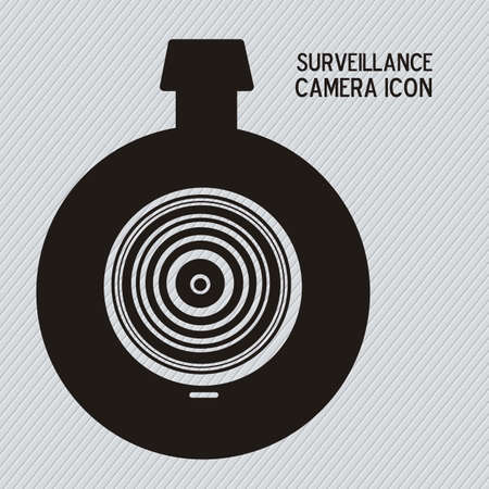 monitored area: Illustration of security camera, security cameras icons, vector illustration Illustration
