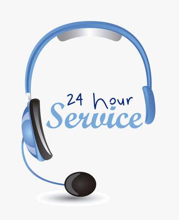 call center agent: Illustration of service icon, operator service 24 hours a day, vector illustration Illustration