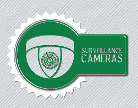 monitored: Illustration of security camera, security cameras icons, vector illustration Illustration