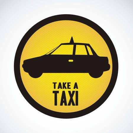 Illustration of taxi icons, transport industry, vector illustration Vector