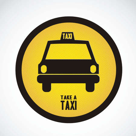 Illustration of taxi icons, transport industry, vector illustration Vector