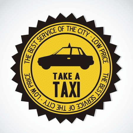 Ilustración de los iconos de la industria de taxis, transporte, ilustración vectorial