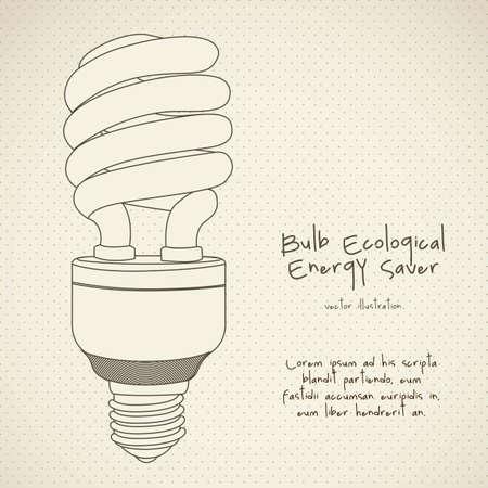 Illustration of energy saving bulbs, vector illustration Vector