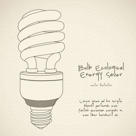 low energy: Illustration of energy saving bulbs, vector illustration Illustration