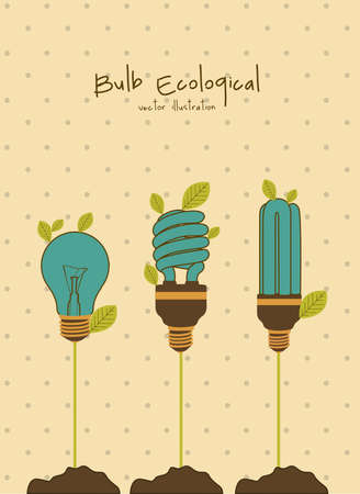 producing: Plant producing bulbs, vintage colors,  vector illustration Illustration