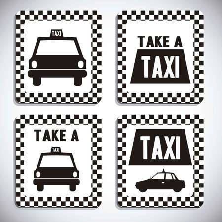 Illustration of taxi icons, transport industry, vector illustration Stock Vector - 16818798