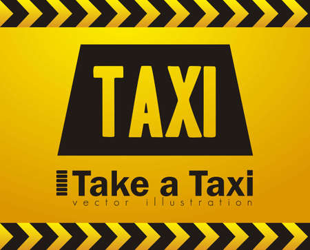 new cab: Illustration of taxi icons, transport industry, vector illustration