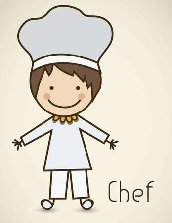 Illustration of a chef with a suit, cook icon, vector illustration Vector