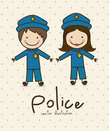 Illustration of professions, police icon,  vector illustration Stock Vector - 16818885