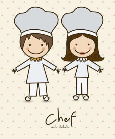 fartuch: Ilustracja zawodów, ikony kuchni, ilustracji wektorowych Ilustracja