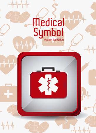 Illustration of Medical Logo Vector, in red colour, vector illustration Illustration