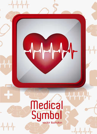 Illustration of Medical Logo Vector, in red colour, vector illustration Stock Vector - 16818807