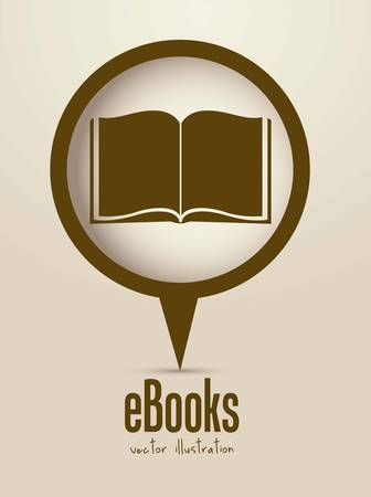 books library: Illustration of Download ebook, with book icons, vector illustration Illustration