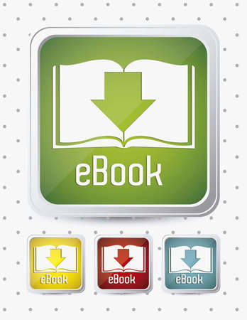 Illustration of Download ebook, with book icons, vector illustration Stock Vector - 16818462