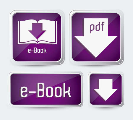 Illustration of Download ebook, with book icons, vector illustration Stock Vector - 16818385
