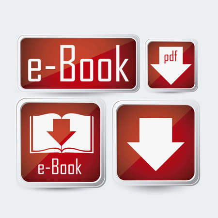 elettronic: Illustration of Download ebook, with book icons, vector illustration Illustration