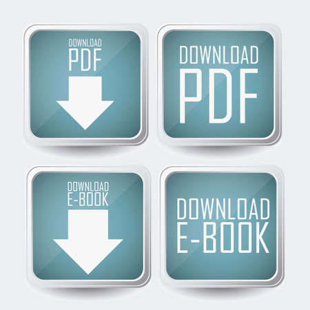 Illustration of Download ebook, with book icons, vector illustration Stock Vector - 16818379