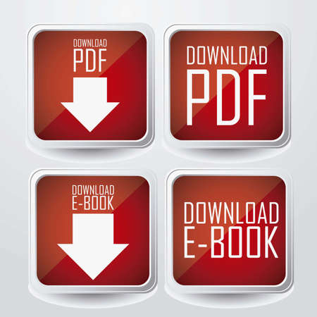 download folder: Illustration of Download ebook, with book icons, vector illustration Illustration