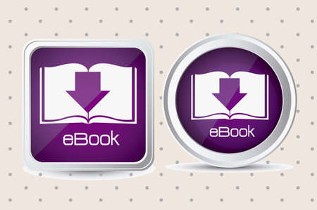 Illustration of Download ebook, with book icons, vector illustration Vector