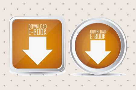 Illustration of Download ebook, with book icons, vector illustration Stock Vector - 16818332