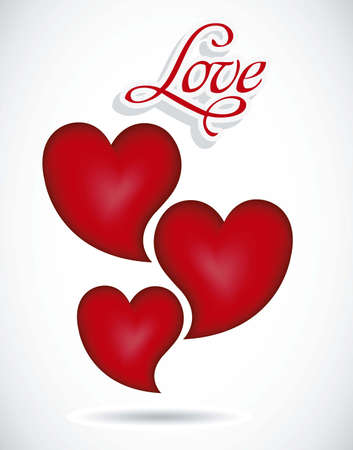 seduction: Illustration of love icons with hearts, vector illustration