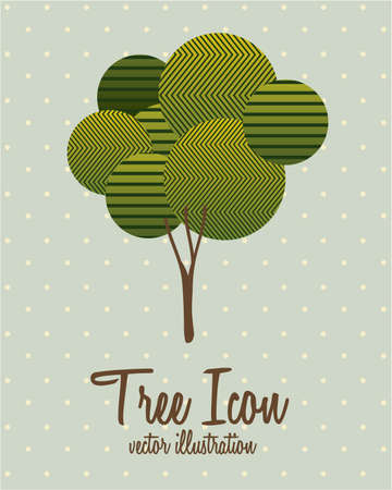 Illustration of tree icon with leaves, vector illustration Stock Vector - 16818534