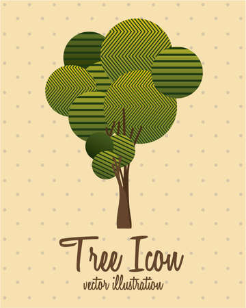 Illustration of tree icon with leaves, vector illustration Stock Vector - 16818546