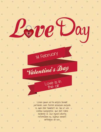 sentiment: Poster valentines day. love icons, vector illustration Illustration