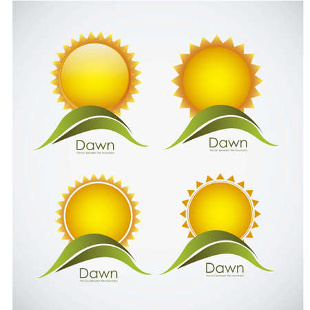 Illustration of icons sun icons of weather and seasons, vector illustration Stock Vector - 16819032